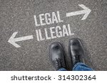 decision at a crossroad   legal ... | Shutterstock . vector #314302364