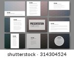 set of 9 templates for... | Shutterstock .eps vector #314304524