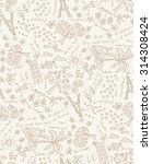 vector doodle goals dreams and... | Shutterstock .eps vector #314308424