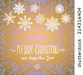 merry christmas card with... | Shutterstock . vector #314316404
