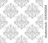 oriental  fine classic silver... | Shutterstock . vector #314318204