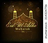 shiny golden text eid ul adha... | Shutterstock .eps vector #314324756