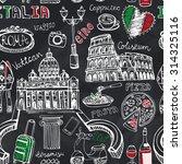 italy famous rome landmark... | Shutterstock .eps vector #314325116