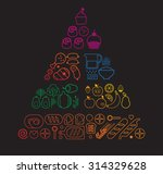 food pyramid healthy eating... | Shutterstock .eps vector #314329628