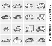 outline car vector icons set on ... | Shutterstock .eps vector #314330570