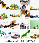 set of triangle geometric... | Shutterstock .eps vector #314334974