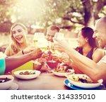 diverse people friends hanging...   Shutterstock . vector #314335010