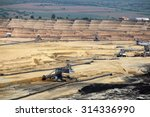 open pit coal mine with... | Shutterstock . vector #314336990