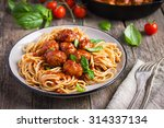 Spaghetti Pasta  With Meatball...