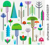forest with colorful whimsy... | Shutterstock .eps vector #314340059