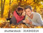 Couple Enjoying Autumn Fall...