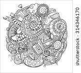 cartoon doodles  hand drawn... | Shutterstock .eps vector #314346170