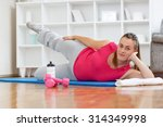 young mom trying to lose weight ... | Shutterstock . vector #314349998