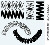 tension springs. isolated on... | Shutterstock .eps vector #314353220