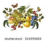 Autumn Harvest Watercolor...