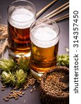 assorted beers in a flight... | Shutterstock . vector #314357450