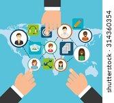 social media design  vector... | Shutterstock .eps vector #314360354