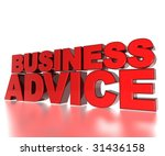 3d text business advice | Shutterstock . vector #31436158