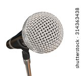 microphone on stand stage... | Shutterstock . vector #314363438