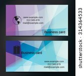stylish business cards with...   Shutterstock .eps vector #314364533