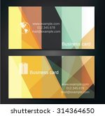 stylish business cards with... | Shutterstock .eps vector #314364650