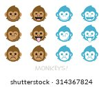 Monkey Faces  Emoticons