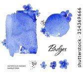 watercolor art hand paint blue... | Shutterstock . vector #314369666