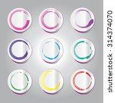 label set | Shutterstock . vector #314374070