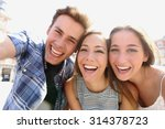 group of happy teen friends... | Shutterstock . vector #314378723
