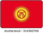 a flat design flag illustration ... | Shutterstock .eps vector #314383700