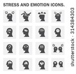 stress and emotion vector icons ... | Shutterstock .eps vector #314384303