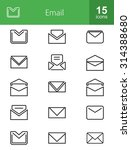 emails icon set. can also be... | Shutterstock .eps vector #314388680