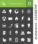 energy and technology icon set. ... | Shutterstock .eps vector #314388749