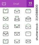 emails icon set. can also be... | Shutterstock .eps vector #314388800