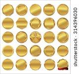 empty golden labels | Shutterstock .eps vector #314396030