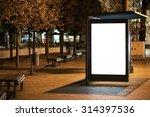 blank bus stop advertising... | Shutterstock . vector #314397536