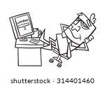 contour office cartoons | Shutterstock .eps vector #314401460