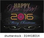 2016 happy new year and merry... | Shutterstock .eps vector #314418014