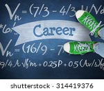 the word career and casual... | Shutterstock . vector #314419376