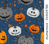 pattern halloween vector. funny ... | Shutterstock .eps vector #314429780