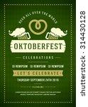 oktoberfest beer festival... | Shutterstock .eps vector #314430128