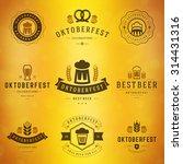 beer festival oktoberfest... | Shutterstock .eps vector #314431316