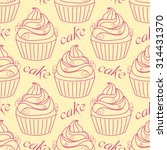 seamless pattern with doodle... | Shutterstock .eps vector #314431370