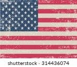 grunge usa flag.american flag... | Shutterstock .eps vector #314436074