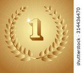vector gold award wreaths ... | Shutterstock .eps vector #314436470