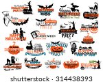halloween party banners and...   Shutterstock .eps vector #314438393