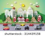 urban countryside landscape... | Shutterstock .eps vector #314439158