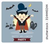 happy halloween party cute... | Shutterstock .eps vector #314440244
