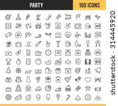 party icons. vector... | Shutterstock .eps vector #314445920