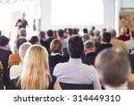 speaker giving a talk at... | Shutterstock . vector #314449310